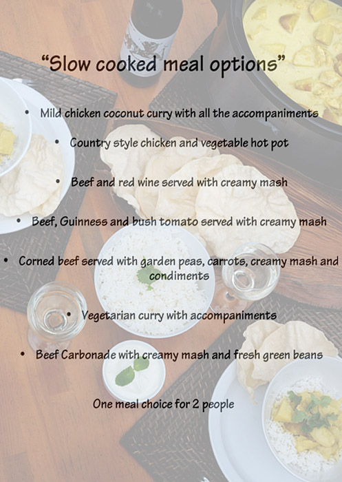 SLOW COOKED MEAL OPTIONS for barkhut menu page